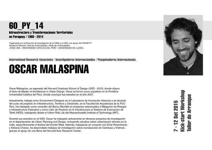 los expositores Oscar Malaspina