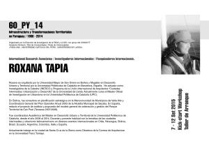 los expositores Roxana Tapia
