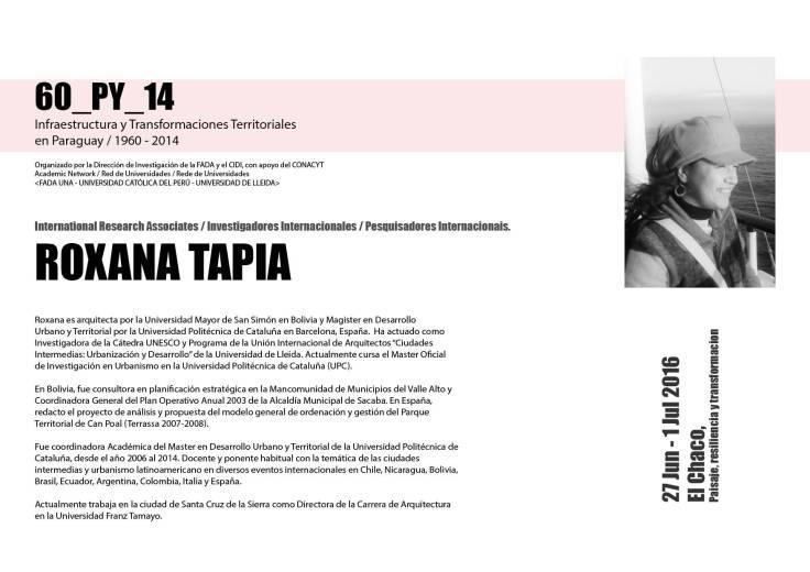 los expositores Roxana Tapia 5