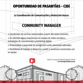 Pasantía - Comunicación y Redacción - Community Manager